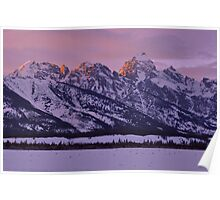 Mountain Light - The Tetons Poster