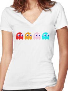 Blinky & Friends Women's Fitted V-Neck T-Shirt
