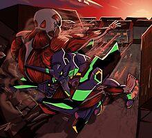 Attack on Evangelion by NiallByrne