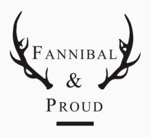 'Fannibal & Proud' (Black Font) by tirmedesign
