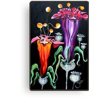 Poppies Fantasy..acrylic on canvas Canvas Print