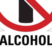 Alcohol Free Zone - Light Sticker