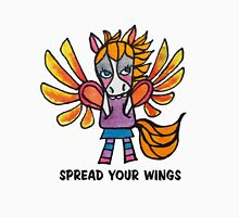 Spread Your Wings: Pegasus Drawing Watercolor Illustration  Womens Fitted T-Shirt