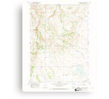 USGS Topo Map Oregon Warner Peak 282022 1967 24000 Canvas Print