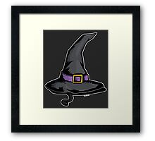 Cute Witches Hat Cat Halloween Framed Print