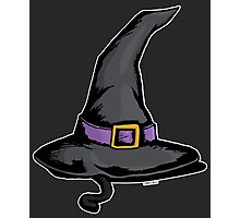 Cute Witches Hat Cat Halloween Photographic Print