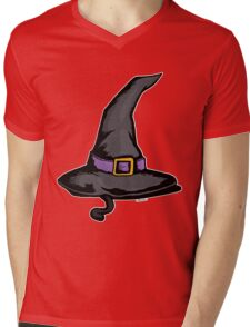 Cute Witches Hat Cat Halloween Mens V-Neck T-Shirt