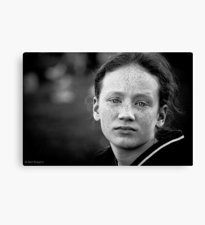 Another day, another eldest sibling worn down by her numerous brothers and sisters and wishing (if only for a day or two) she were an only child Canvas Print