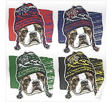 Boston Terrier Boston Sports Beanies Poster