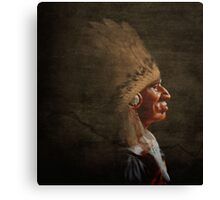 Old chief profile, Canvas Print