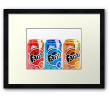 Different Fanta's Framed Print
