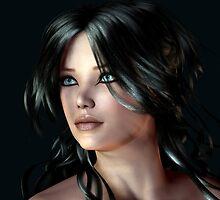 Raven-haired by Sandra Bauser Digital Art