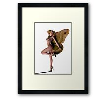 Butterfly Pin-up (Moth) Framed Print