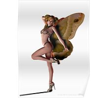 Butterfly Pin-up (Moth) Poster