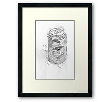 penciled Fanta  Framed Print