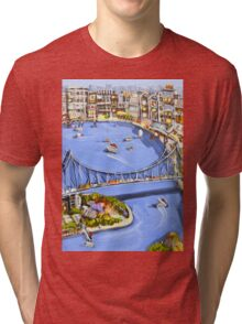 Under the bridge Tri-blend T-Shirt