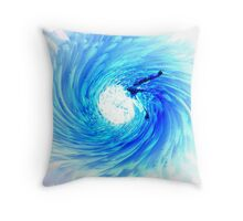 Flying Through the Eye of the Storm Throw Pillow