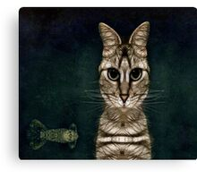 Jules Verne's Cat Canvas Print