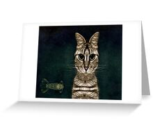 Jules Verne's Cat Greeting Card