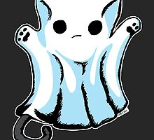 Cute Boo Ghost Cat Halloween by zombieCraig