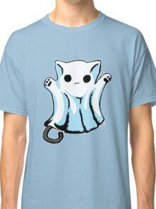 Cute Boo Ghost Cat Halloween Classic T-Shirt