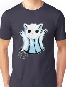 Cute Boo Ghost Cat Halloween Unisex T-Shirt