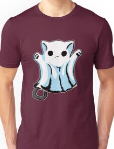 Cute Boo Ghost Cat Halloween Unisex T-Shirt