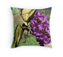 Macro Tiger Throw Pillow