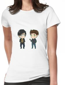 Stefan feelin' sensitive?  Womens Fitted T-Shirt