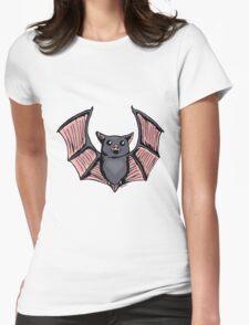 Cute Halloween Batty Womens Fitted T-Shirt