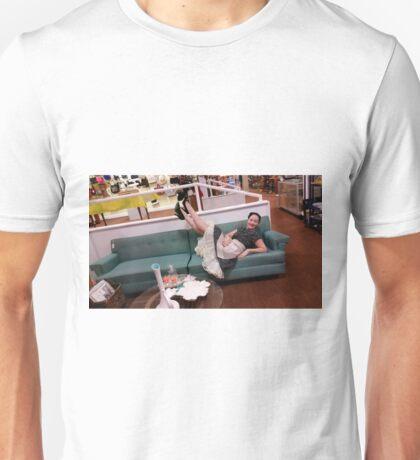50's housewife kicking up her heels Unisex T-Shirt