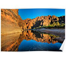 Dome Reflections in Picininny Creek - The Bungle Bungles. Poster
