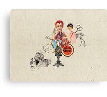 EL DIABLO SE ESCONDE DETRAS DE MIS TIJERAS (The devil hide behind my scissors) Canvas Print