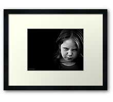 Another day, another younger sister determined to break her older siblings will (and succeeding) Framed Print