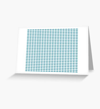 Judo Text Background Blue  Greeting Card