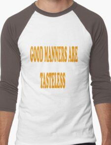Good Manners Men's Baseball ¾ T-Shirt