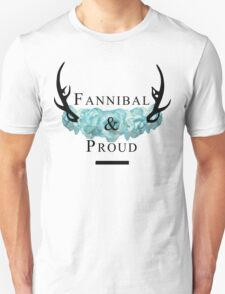 'Fannibal & Proud' w/ Flower (Black Font) T-Shirt