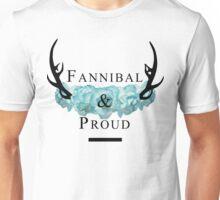 'Fannibal & Proud' w/ Flower (Black Font) Unisex T-Shirt