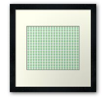 Judo Text Background Green  Framed Print