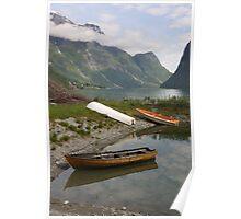 Restful boats - Sojnofjord, Norway Poster