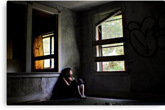 """""""Contentment"""" Self Portrait, Abandoned House, CT by MJD Photography  Portraits and Abandoned Ruins"""
