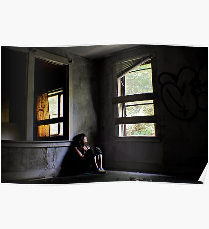 """""""Contentment"""" Self Portrait, Abandoned House, CT Poster"""