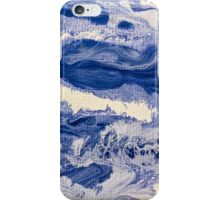Ocean Waves on Textured Paper Abstract iPhone Case/Skin