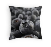 Sweet Blueberries Throw Pillow