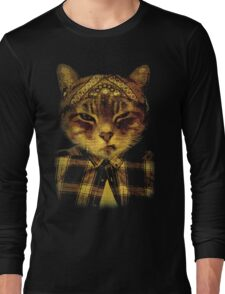 Gangster Cat Long Sleeve T-Shirt