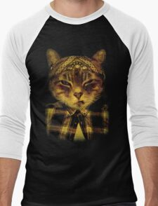 Gangster Cat Men's Baseball ¾ T-Shirt
