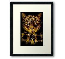 Gangster Cat Framed Print