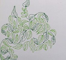 drawing day leafy fractal by GillKnox