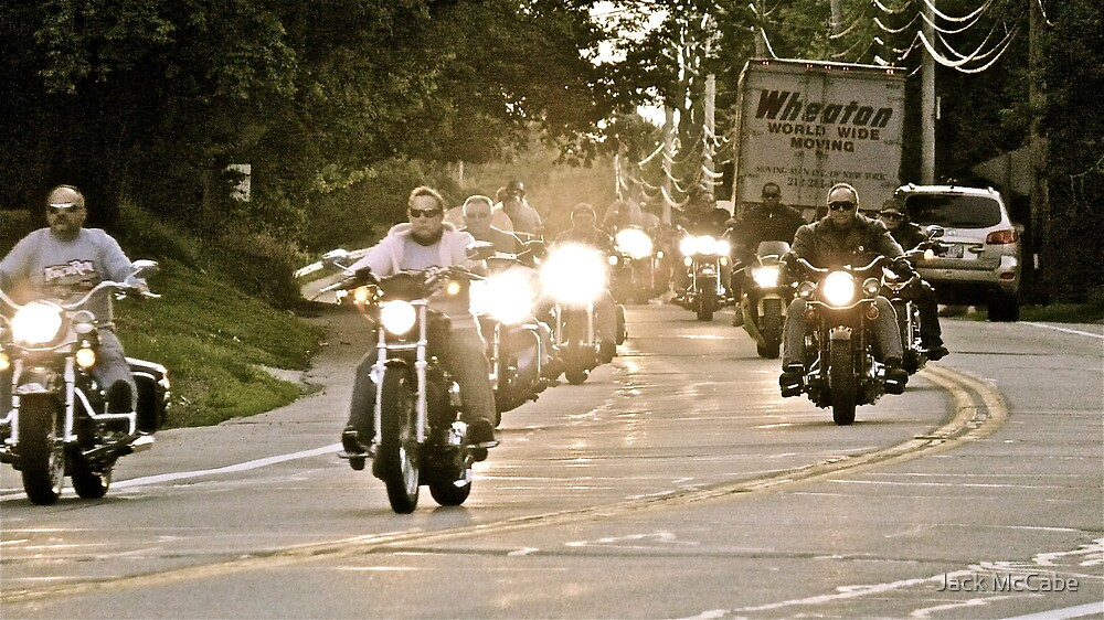 Bikers Head to College - How They Roll - Kingston - URI by Jack McCabe