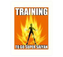 Training for Super Saiyan Art Print